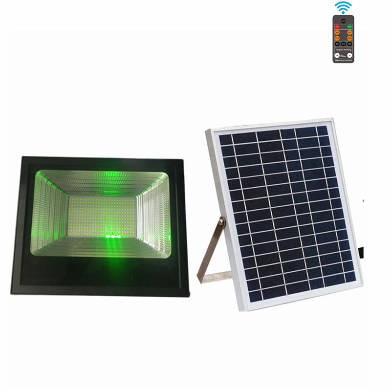 100w Solar Led Flood Light With Remote Control